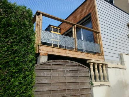terrasse surélevée en limite de propriété avec vis à vis