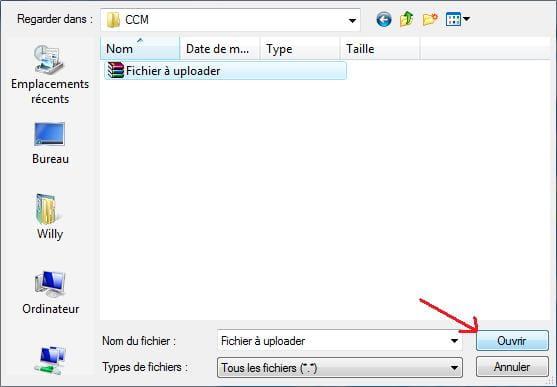 Uploader un fichier sur mediafire for Ouvrir fenetre dos windows 7