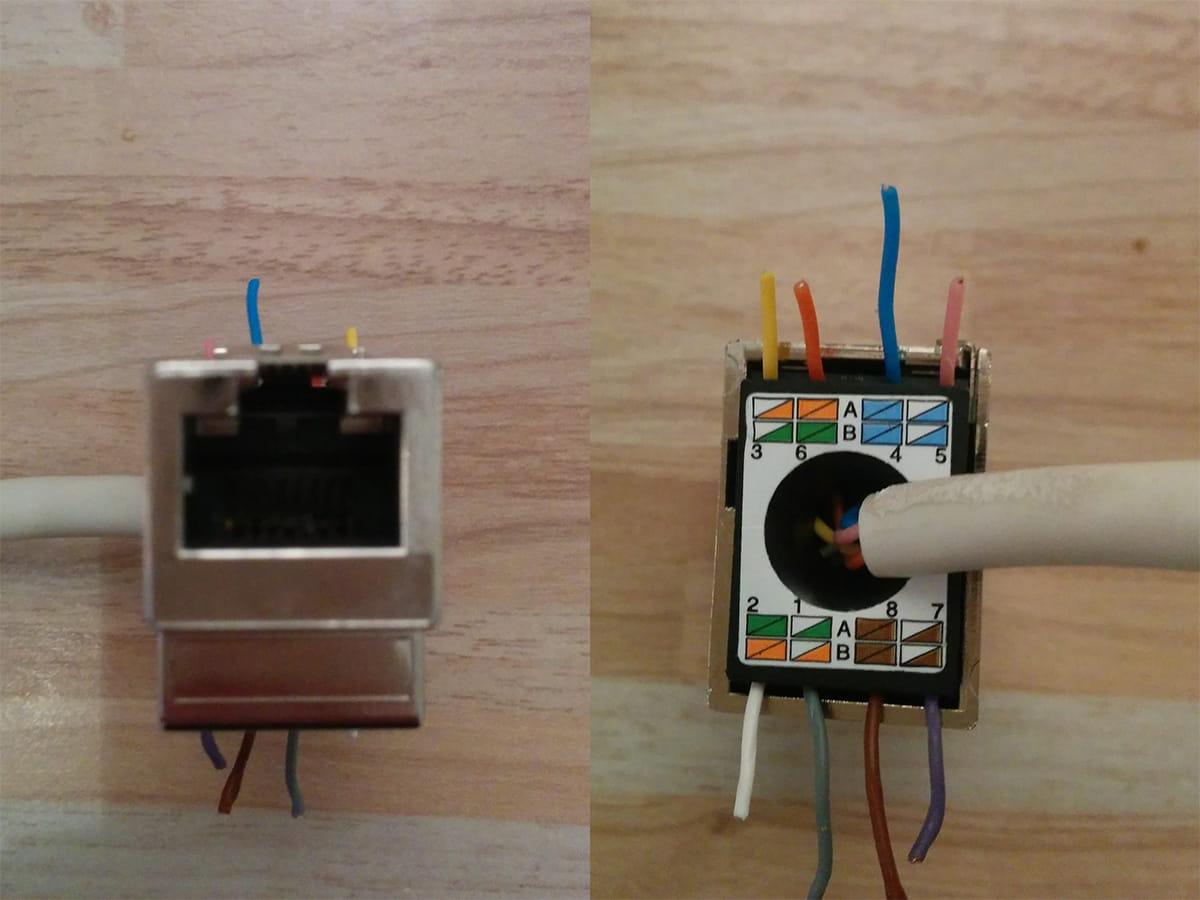 cablage prise rj45 avec cable ft. Black Bedroom Furniture Sets. Home Design Ideas
