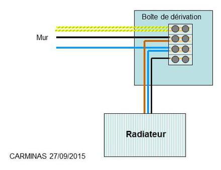 Probl me branchement s che serviette lectriques acova angora r solu forum electricit - Branchement seche serviette ...
