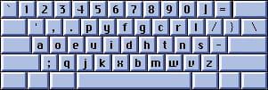 clavier Dvorak