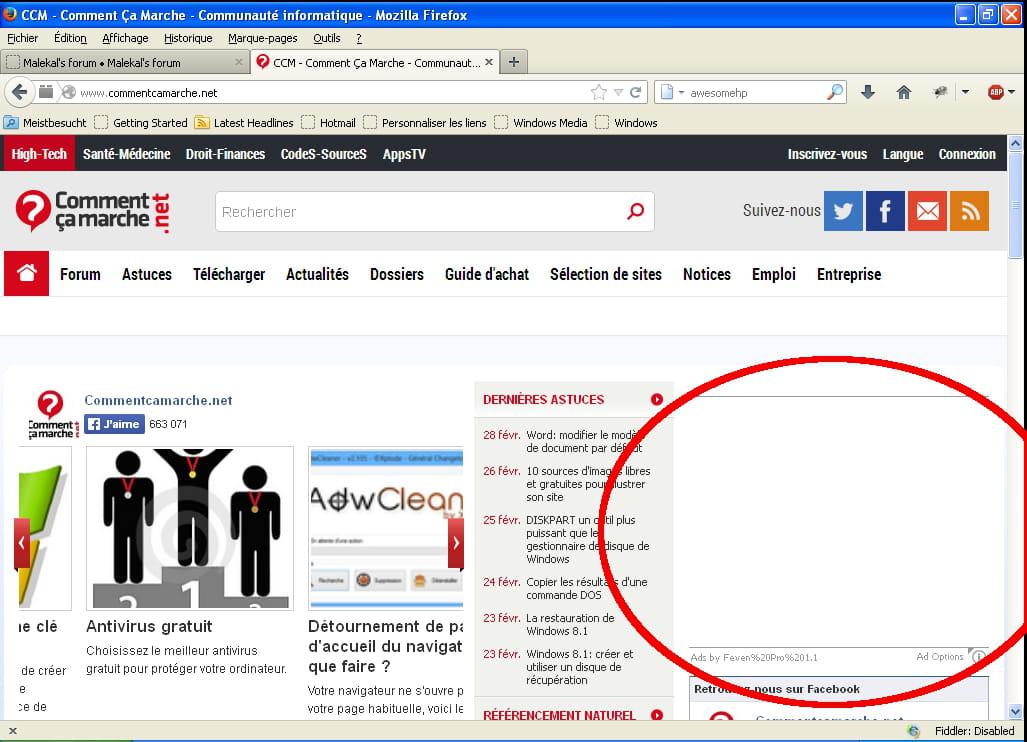 Très Firefox - Eliminer totalement les publicités dans les pages WEB ZE78