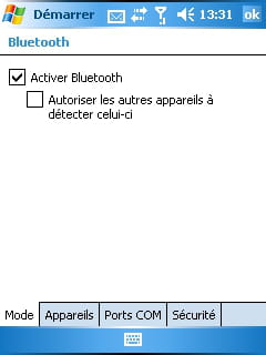 Activer Bluetooth