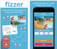 Appli Fizzer : envoyez une carte postale personnalisée