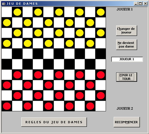 visual basic vb net jeu de dames 2 joueurs en vb. Black Bedroom Furniture Sets. Home Design Ideas