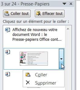 Word copier coller avec le presse papiers office - Presse papier open office ...