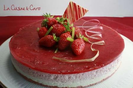 Bavarois fraise rhubarbe