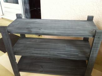 teinter un bois en gris noir. Black Bedroom Furniture Sets. Home Design Ideas