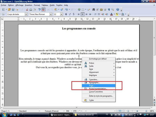 Fond de page sous open office writter - Ouvrir un document word avec open office ...