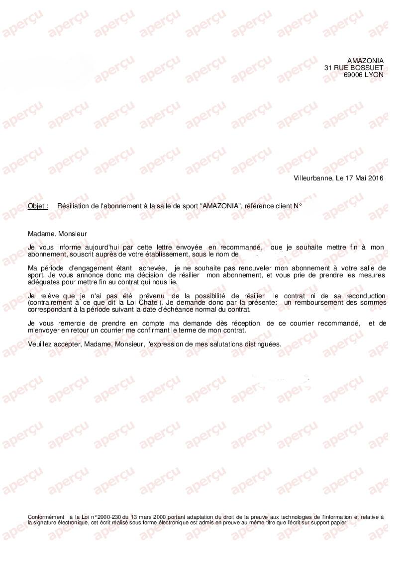 exemple lettre de r u00e9siliation salle de sport kf79