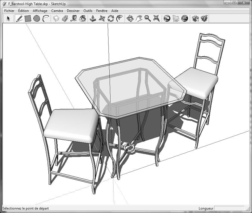 dessiner en 3d avec google sketchup. Black Bedroom Furniture Sets. Home Design Ideas