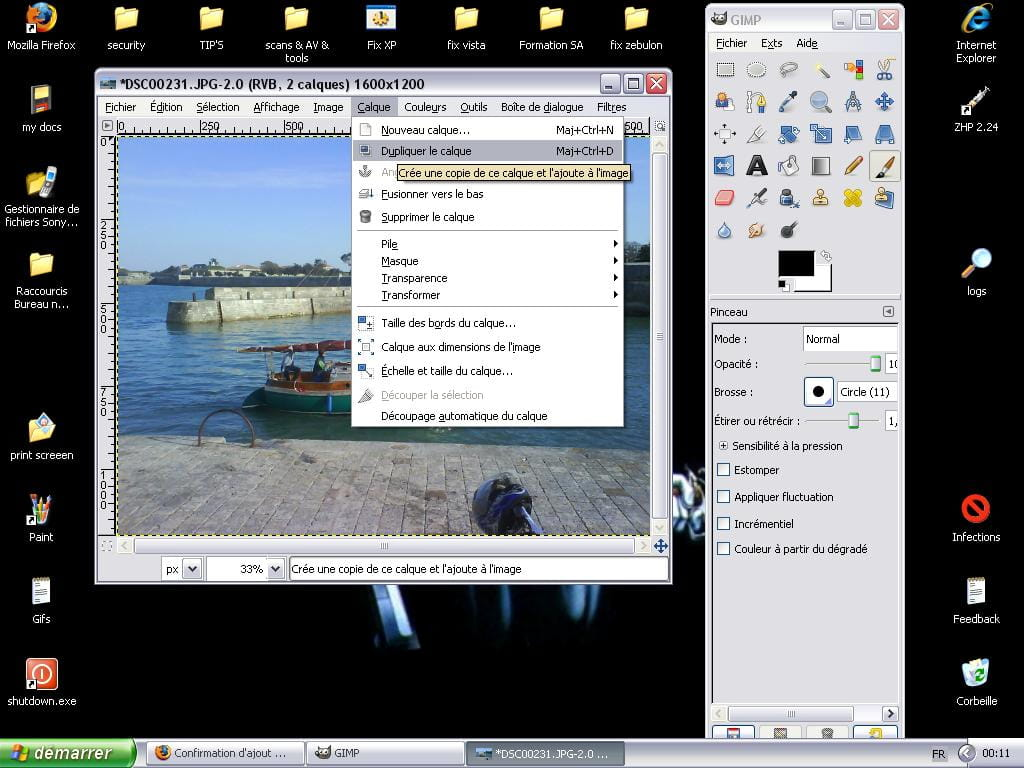 Transformer une photo en dessin avec gimp 2 4 for Afficher fenetre calque gimp