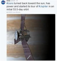 Quand Juno navigue en orbite autour de Jupiter