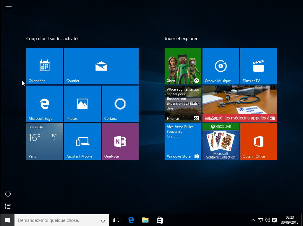 Comment personnaliser le menu d marrer de windows 10 for Ouvrir fenetre plein ecran windows 7