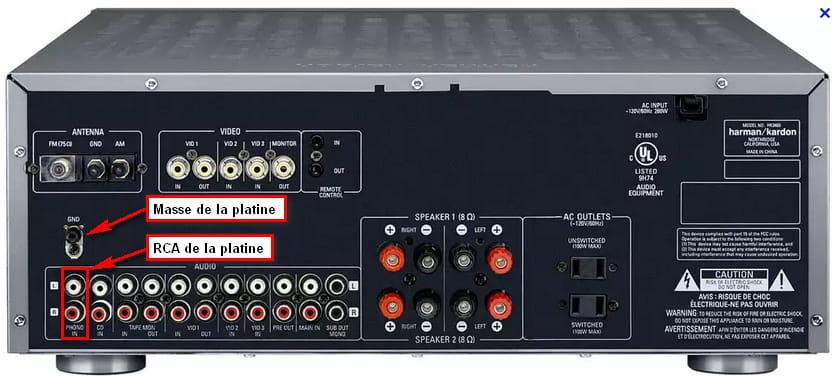 Platine vinyle r solu mat riel hifi enceintes - Ampli pour platine vinyle ...