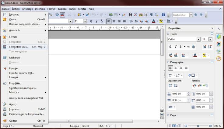 Convertir un fichier docx en doc - Telecharger le pack office gratuitement ...