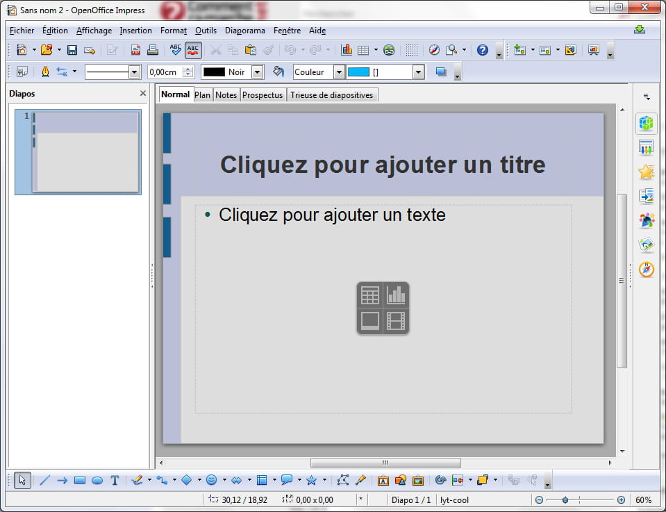 T l charger openoffice gratuit - Comment faire un diaporama sur open office ...