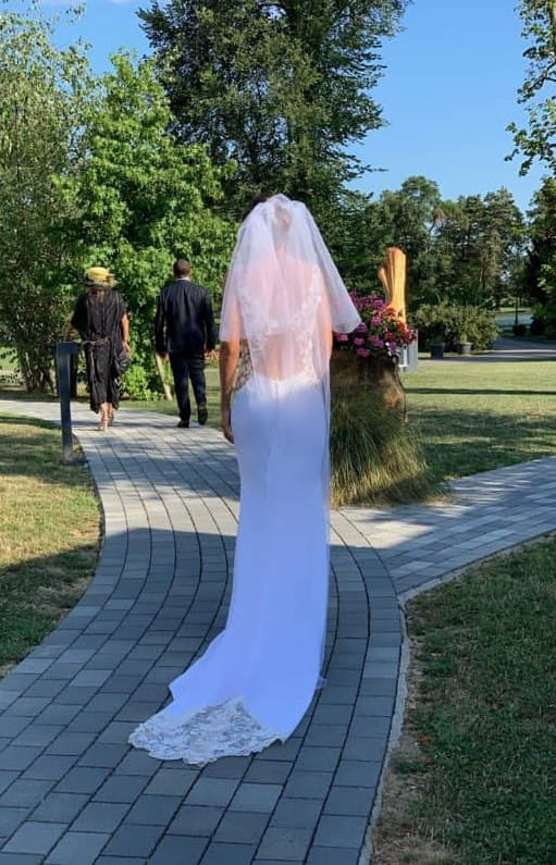 robe nuptial longue