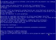 Windows - IRQL NOT LESS OR EQUAL : écran bleu