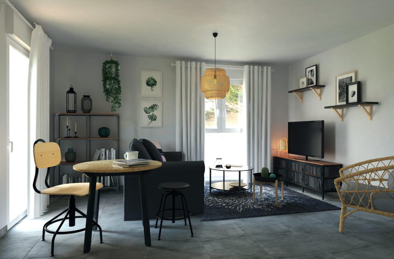 Agencement Salon Salle À Manger Rectangulaire aménagement d'un salon cuisine de 19m² - idées déco