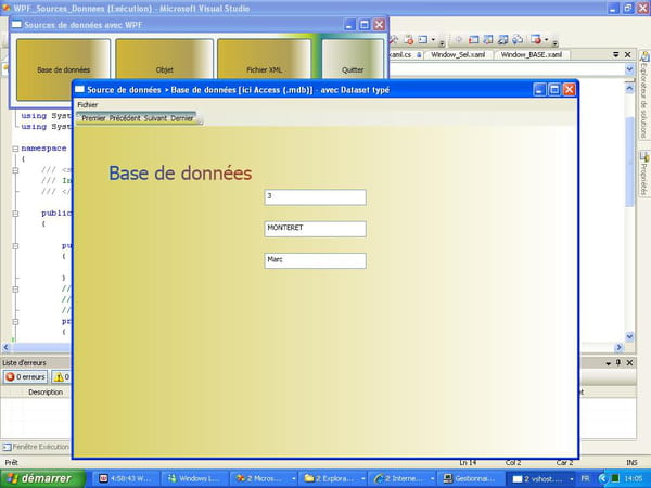 C net wpf exemples sources de donn es base - Exemple base de donnees open office ...