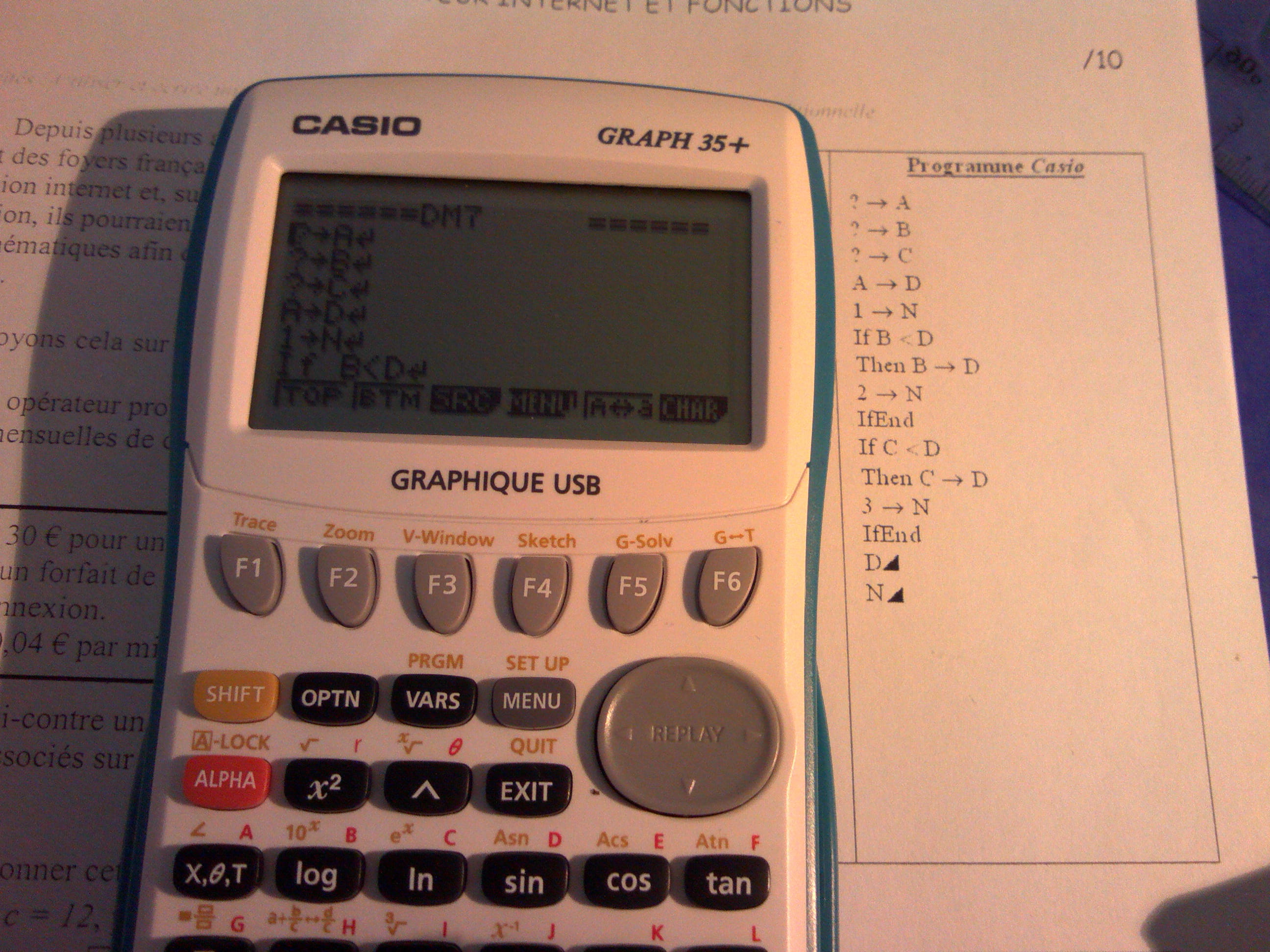 GRATUIT GRAPH PROGRAMME TÉLÉCHARGER CASIO CALCULATRICE 35