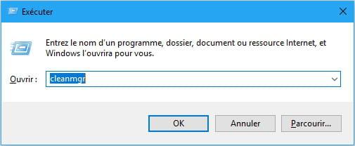Cliquer Sur La Touche Windows R Puis Saisir Cleanmgr Afin De Lancer Loutil Nettoyage Du Disque Dur C