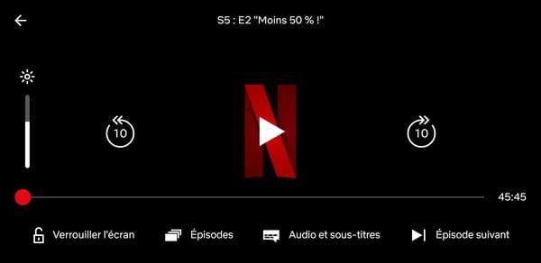 Audio et sous-titres Netflix