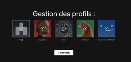 Modifier le profil Netflix