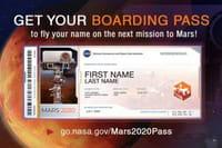 Mission Mars 2020 : envoyez votre nom sur la planète rouge