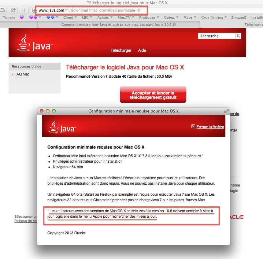 Comment Mettre Jour Java Et Autres Sur Mac Leopard Os X 10 5 8 Macos