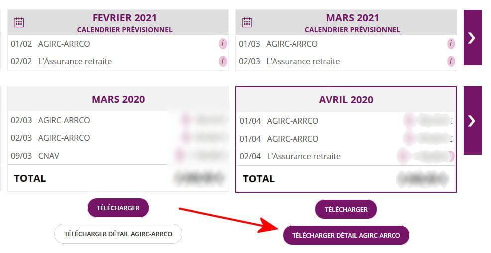 Calendrier Arrco 2021 Insuffisance de versement de retraite complémentaire [Résolu
