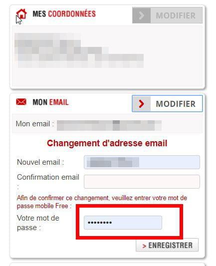 free changer mot de passe messagerie