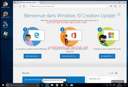Windows 10 1703 - Installer la mise à jour Windows 10