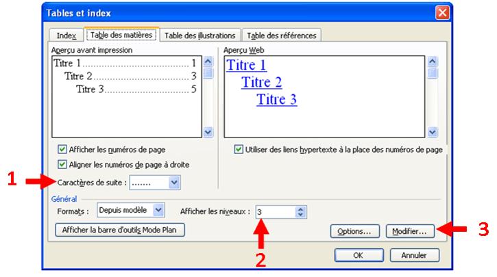 sommaire automatique sous word  table des mati u00e8res