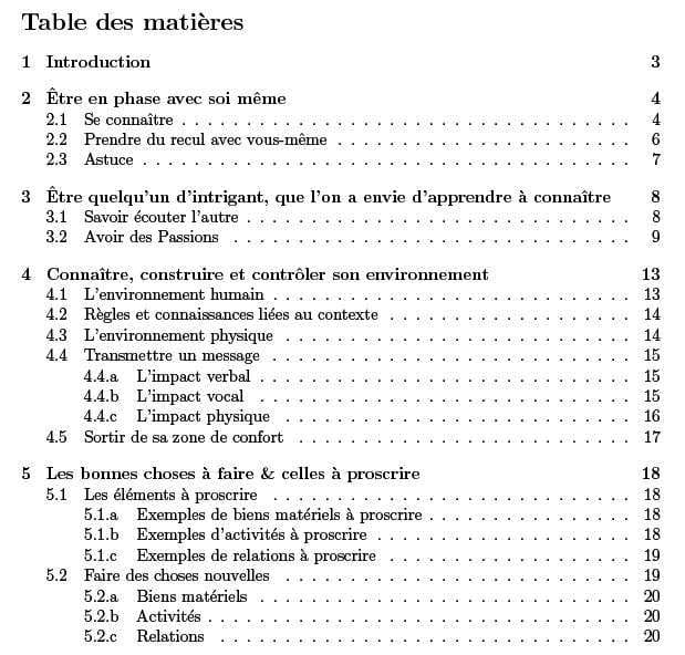 Sommaire openoffice - Faire un sommaire sur open office ...