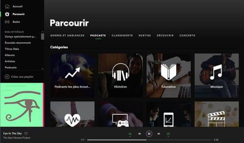 Écouter des podcasts sur Spotify Parcourir_-_podcasts