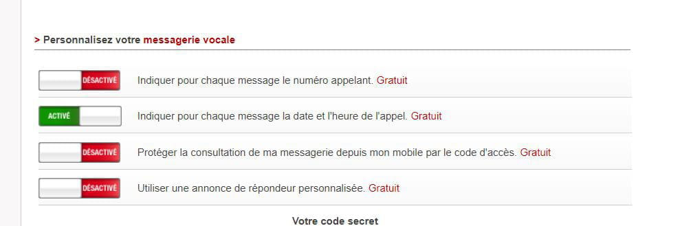 configurer code d acc?s messagerie free mobile