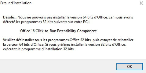 D sintaller office 16 click to run extensibility component - Office 365 comment ca marche ...