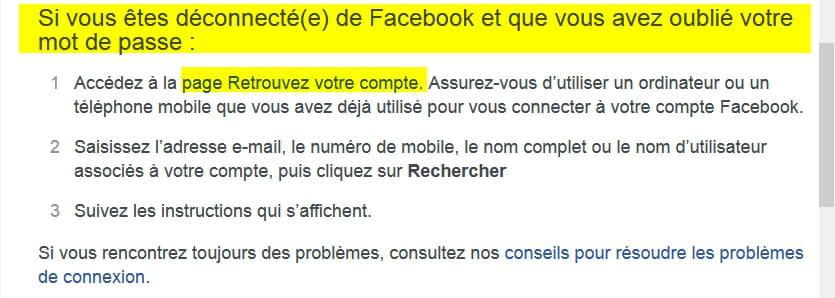 Comment Retrouver Mon Compte Facebook Avec Mot De Passe Oublié