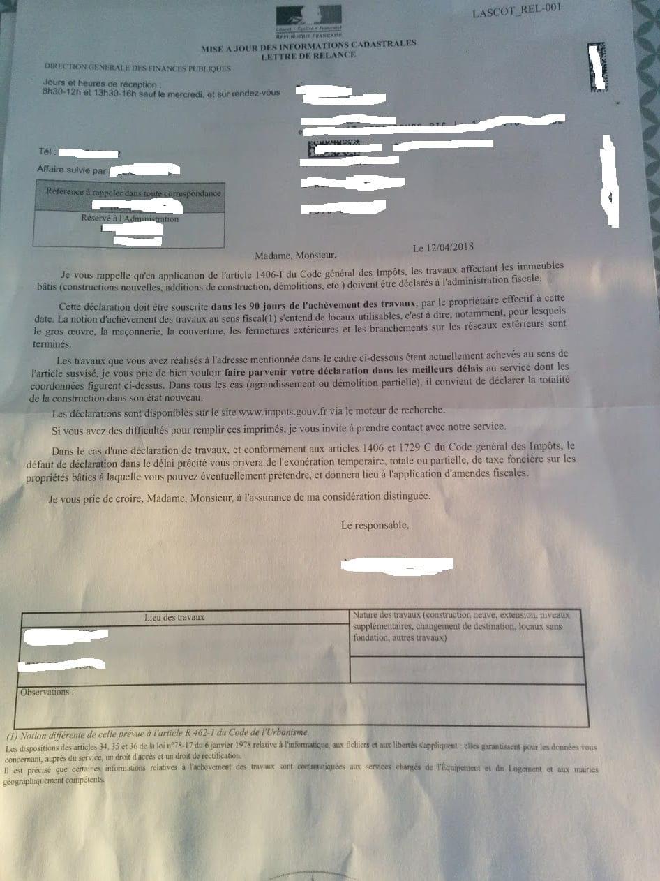 Declaration achevement de travaux cabane de jardin construire une maison - Declaration de fin de travaux ...