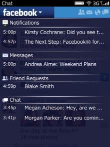 Télécharger Facebook pour BlackBerry (gratuit)