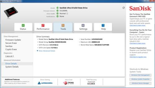 Télécharger SanDisk SSD Dashboard (gratuit)