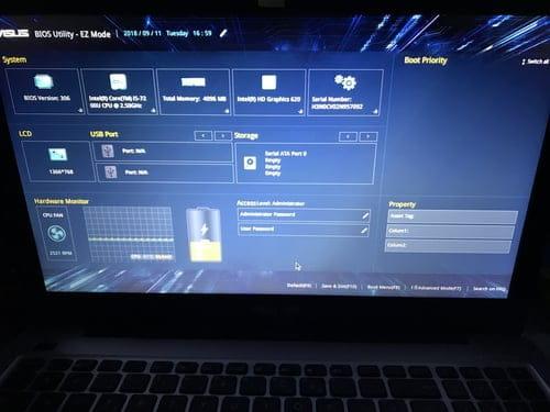 Asus BIOS Utility Ez mode [Résolu]