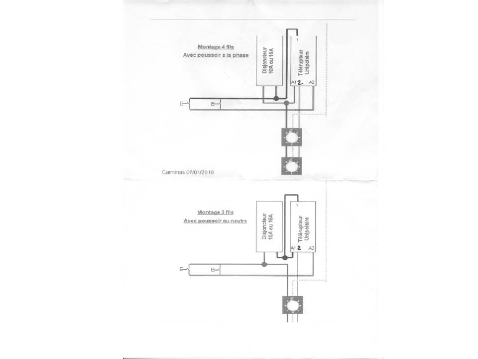 branchement telerupteur merlin gerin multi 9