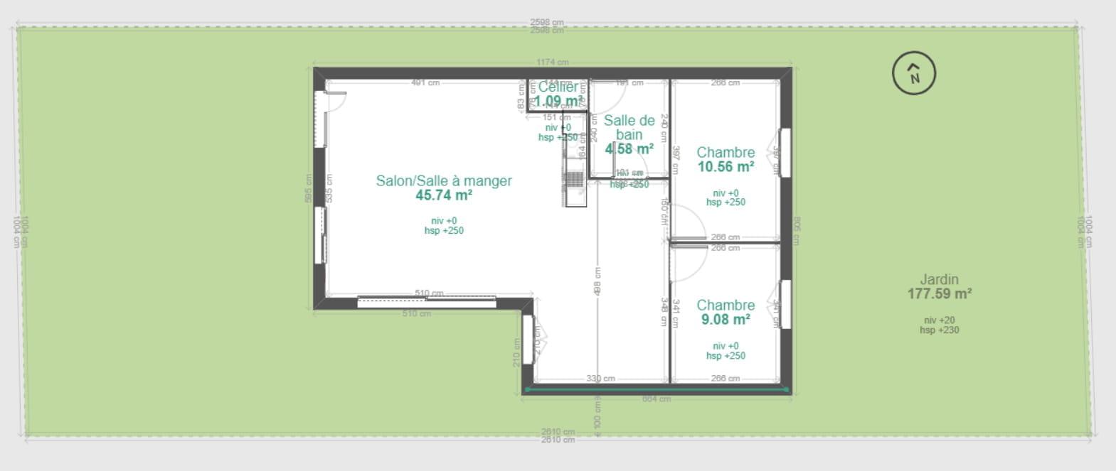 Largeur Minimum Couloir Maison construction d'une maison sur un terrain en longueur - droit