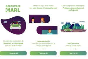 Carl : réserver un covoiturage… dans une auto-école