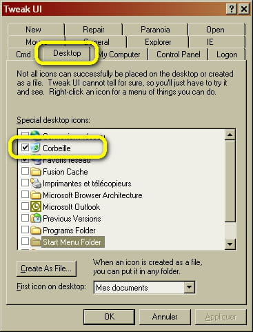 Windows corbeille supprimer la corbeille du bureau - Comment remettre corbeille sur bureau ...