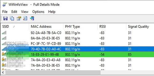 Vérifier la puissance d'un signal Wi-Fi 191028_3