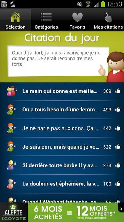 Télécharger Proverbes Citations Pour Android Gratuit
